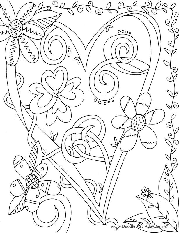 Valentines Day Coloring Pages for Adults - Valentines Day Coloring Pages Doodle Art Alley