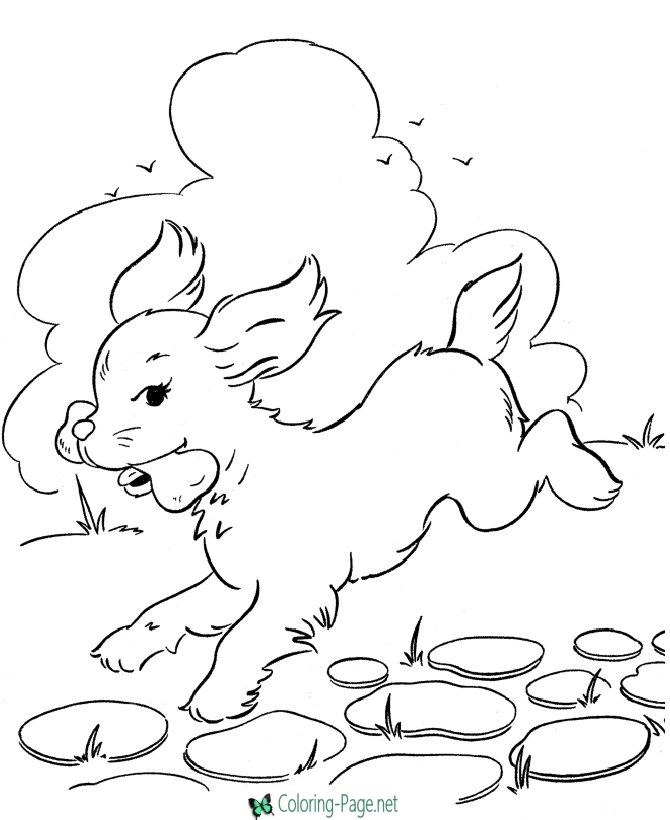 valentines day coloring pages printable - dogs