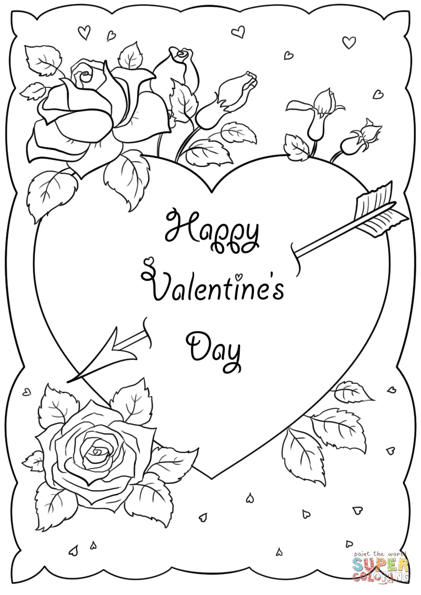 valentines day coloring pages printable - printable coloring valentines day cards