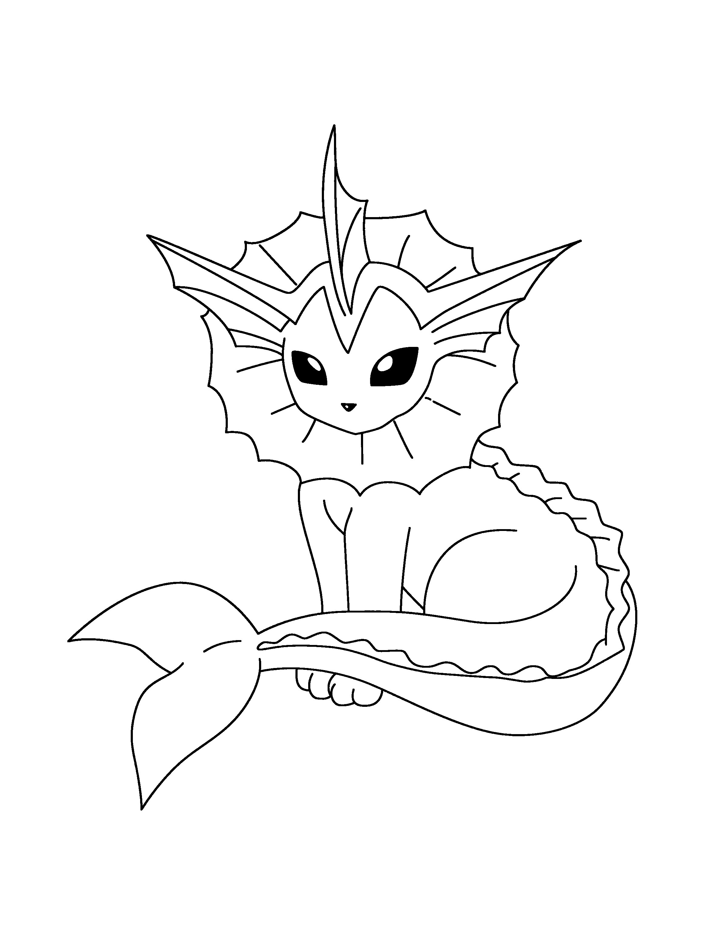 25 Vaporeon Coloring Page Compilation | FREE COLORING PAGES - Part 2