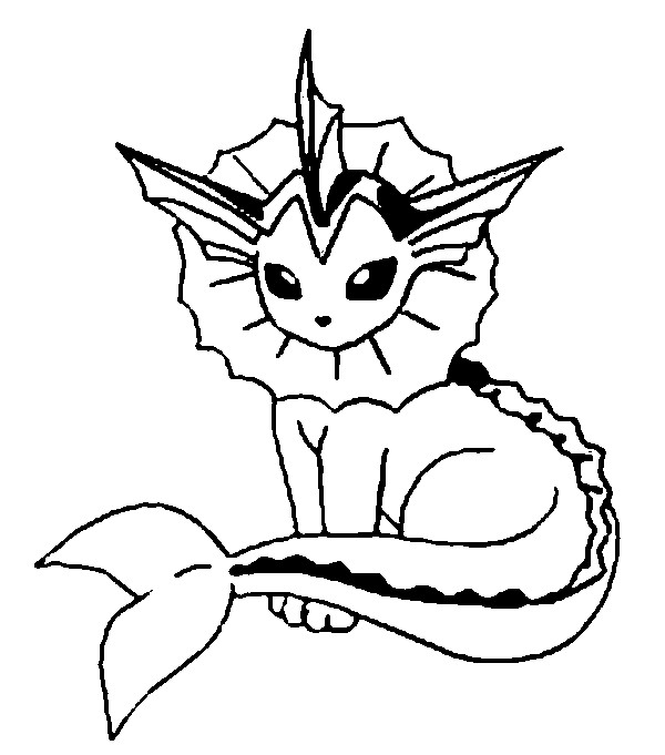 25 Vaporeon Coloring Page Compilation