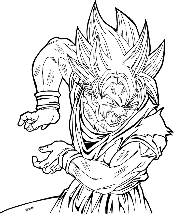 vegeta coloring pages -