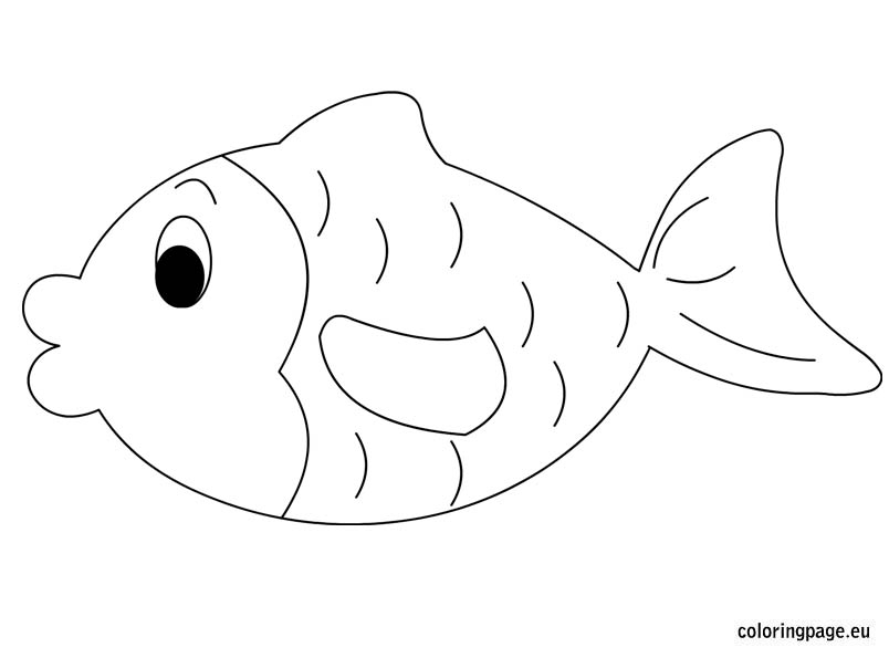 vegetable coloring pages - fish