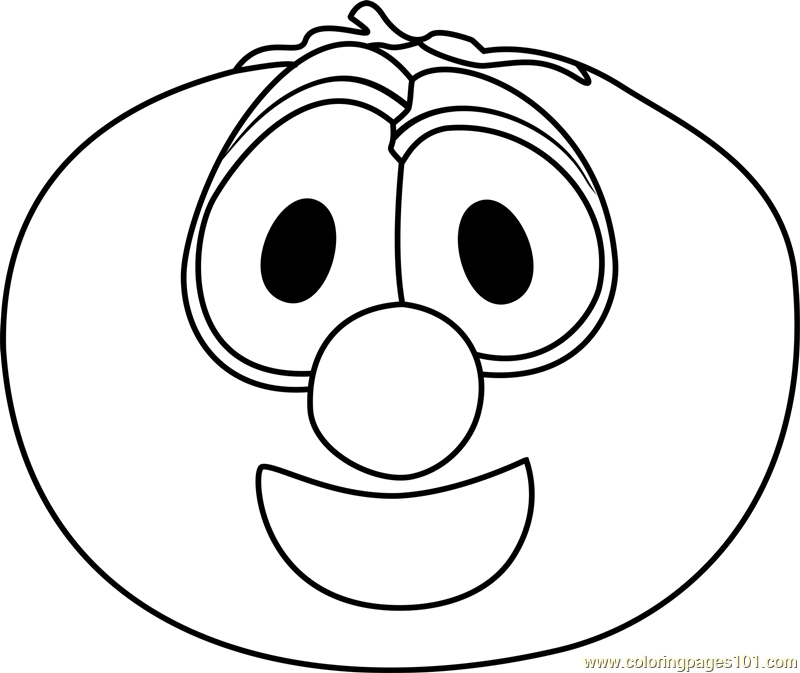 veggie tales coloring pages - bob the tomato coloring page