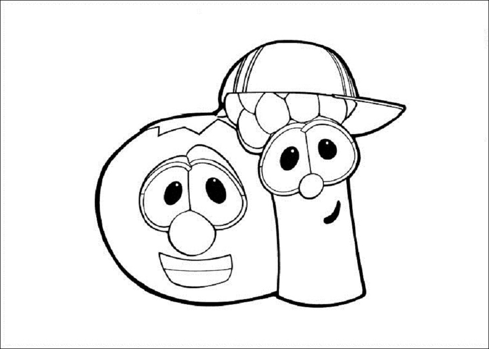 veggie tales coloring pages - veggie tales coloring pages