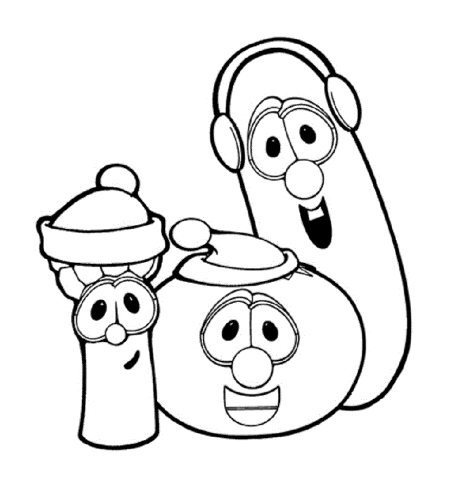 27 Veggie Tales Coloring Pages Collections | FREE COLORING PAGES