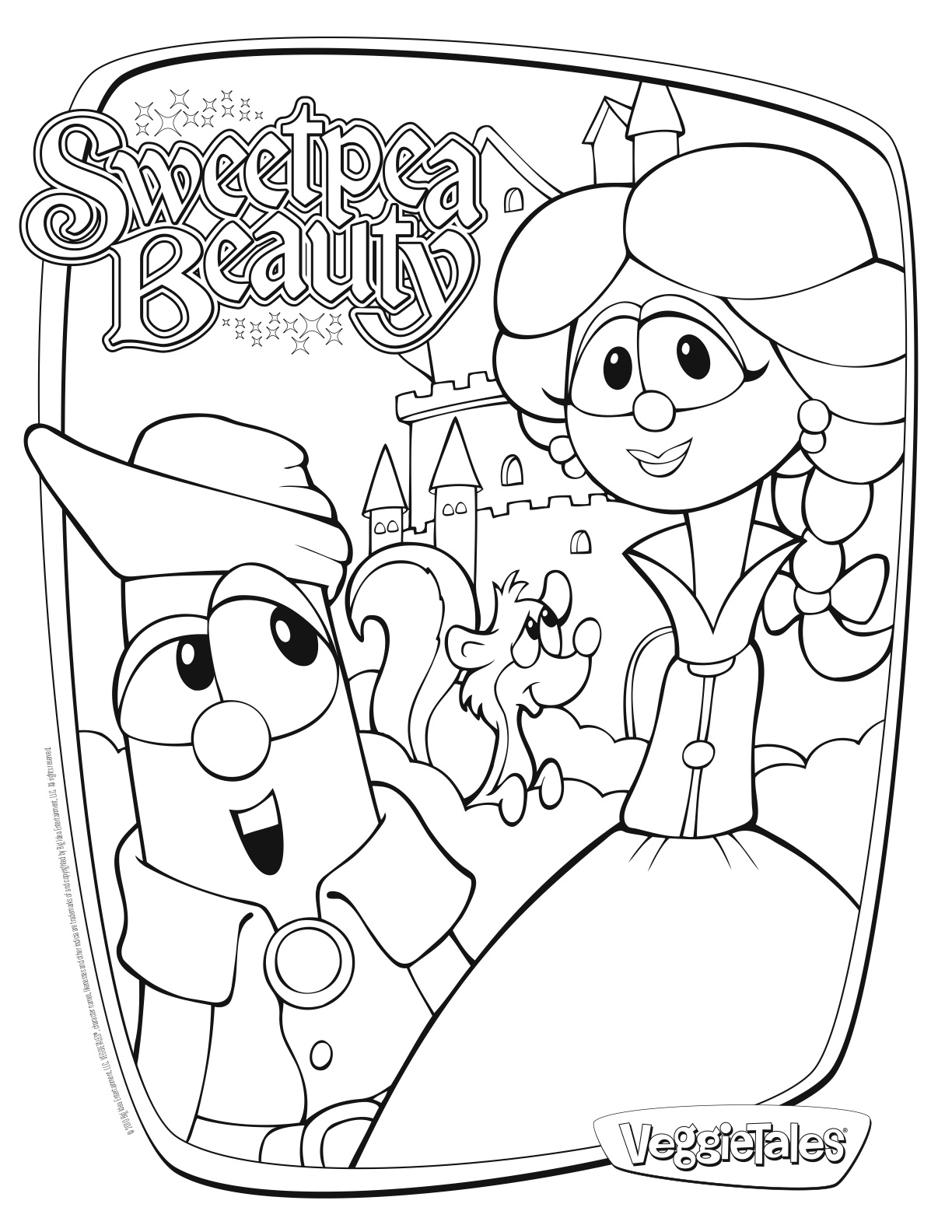 veggie tales coloring pages - coloring