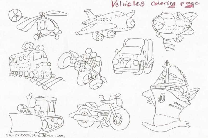 vehicle coloring pages - 132