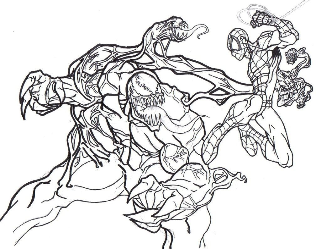 venom coloring pages - carnage coloring pages