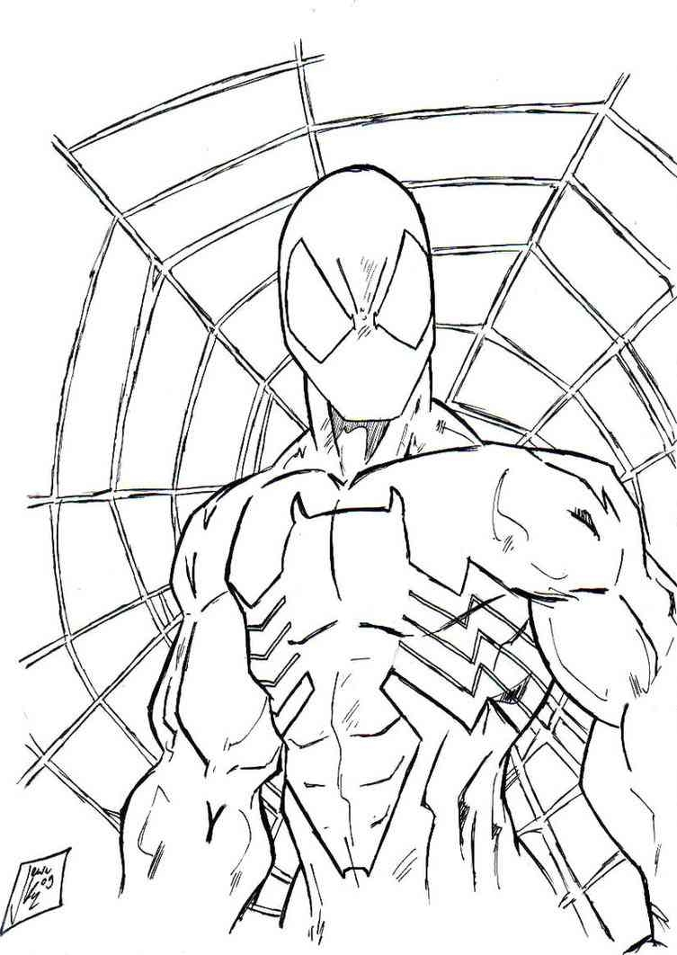 venom coloring pages - spiderman 35