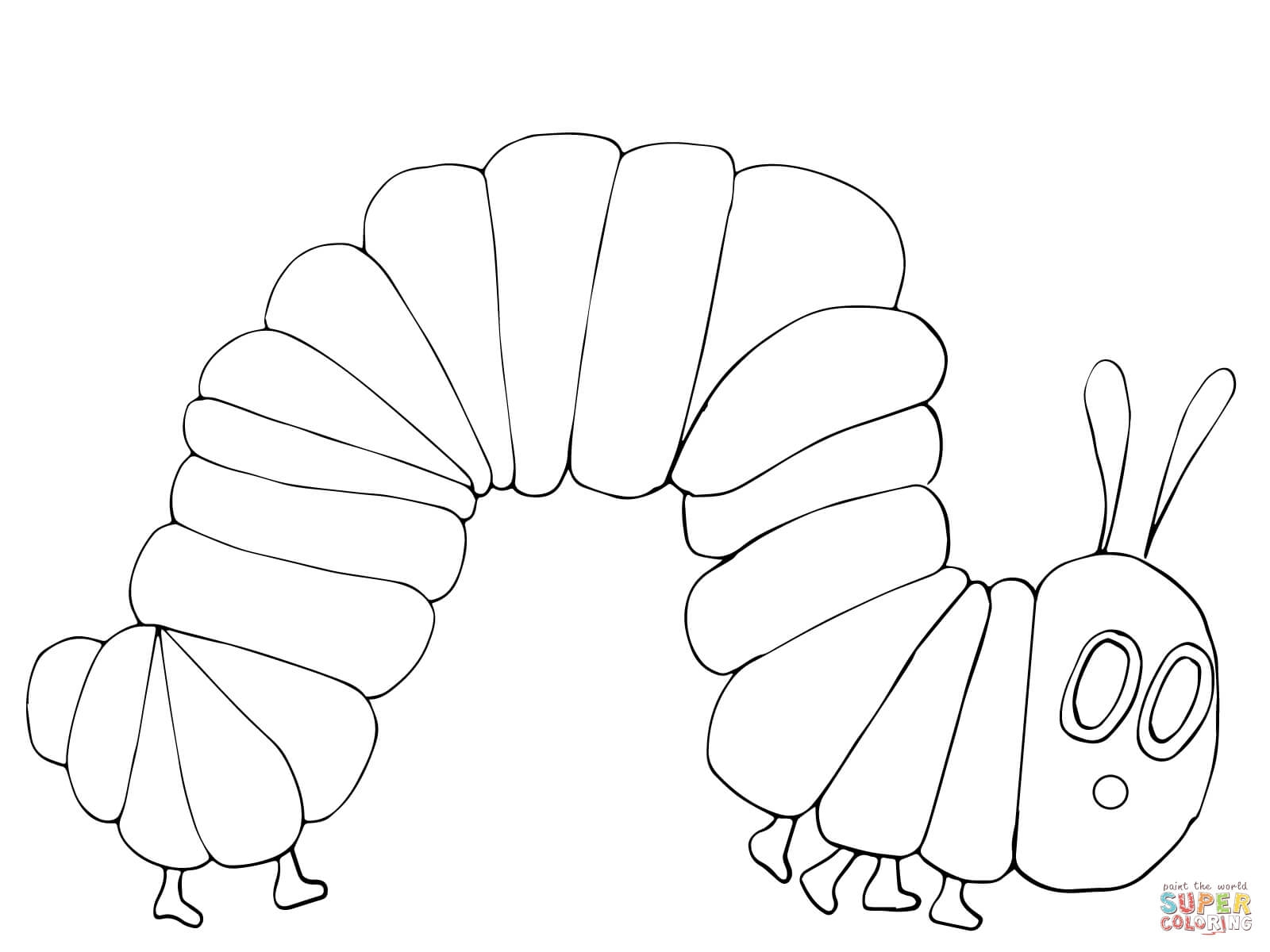 very hungry caterpillar coloring page - very hungry caterpillar