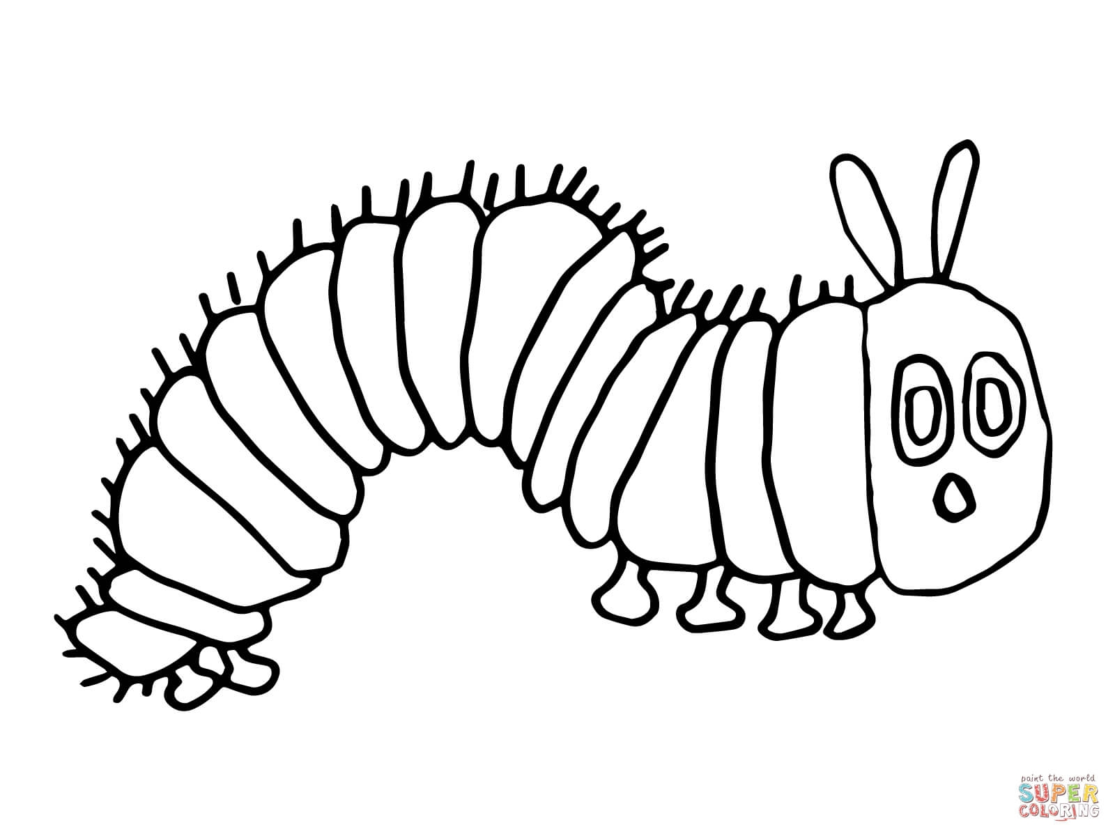 very hungry caterpillar coloring page - hungry caterpillar