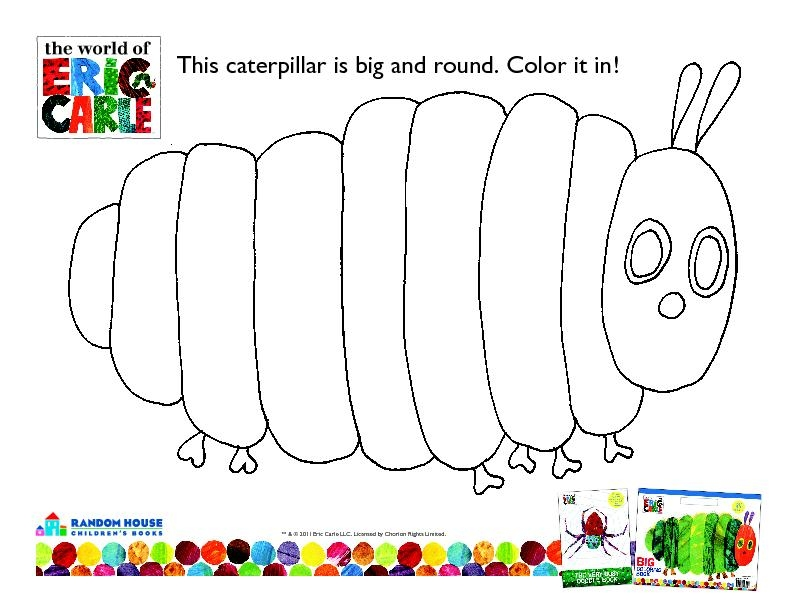 Very Hungry Caterpillar Coloring Page - Templates Eric Carle Very Hungry Caterpillar Free