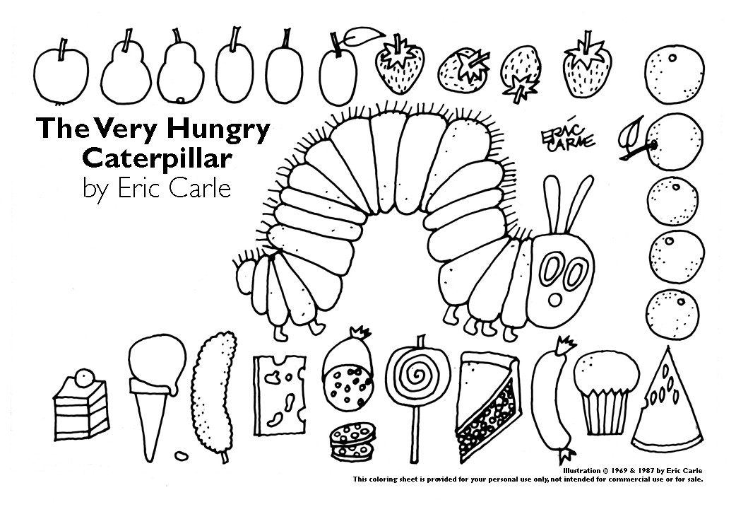 very hungry caterpillar coloring page - coloringpage