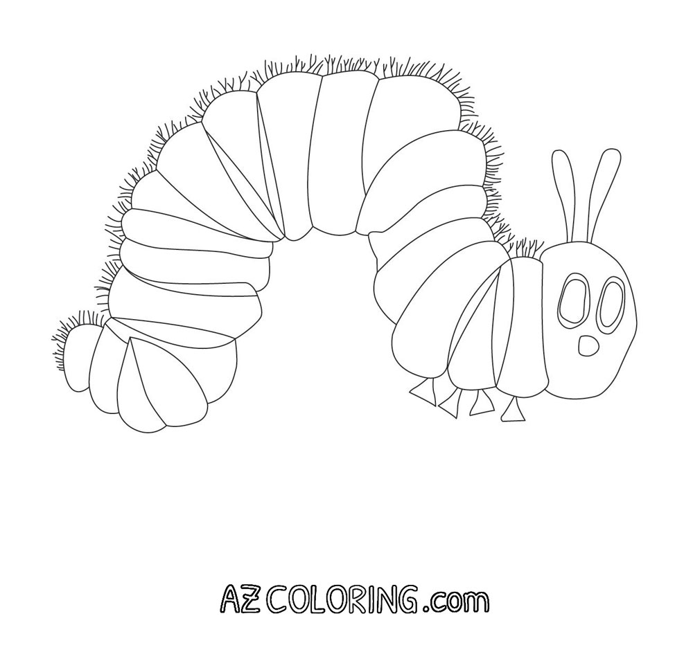 20 Very Hungry Caterpillar Coloring Page Printable   FREE COLORING ...