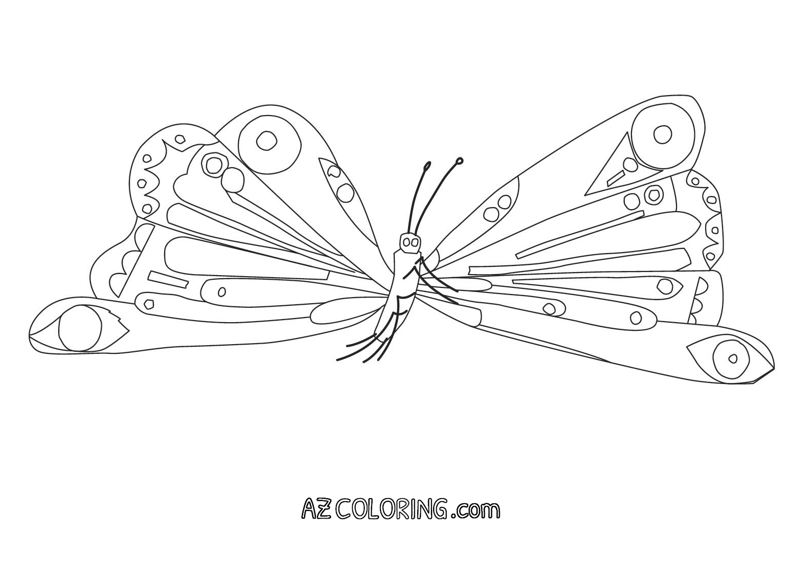 very hungry caterpillar coloring page - very hungry caterpillar coloring pages