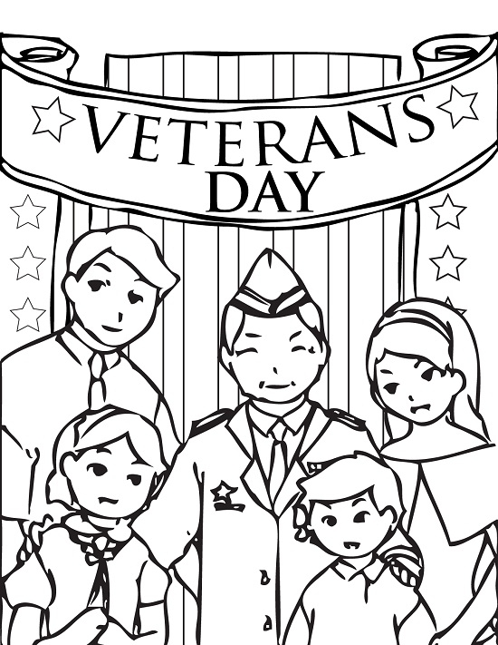 veterans coloring pages - veterans day coloring pages