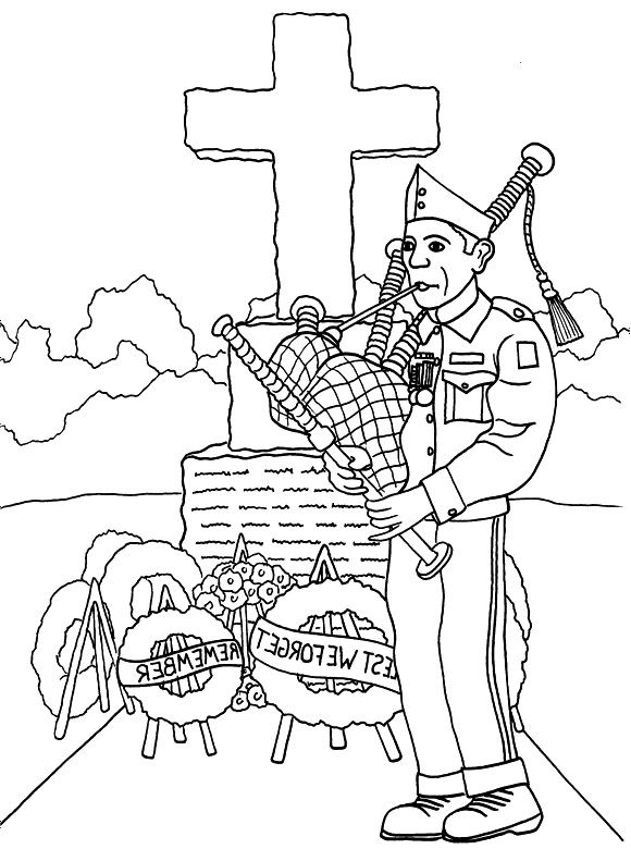 Veterans Day Coloring Pages - Veterans Day Remembrance Coloring Page