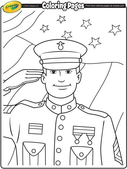 veterans day coloring pages - veterans day sol r coloring page