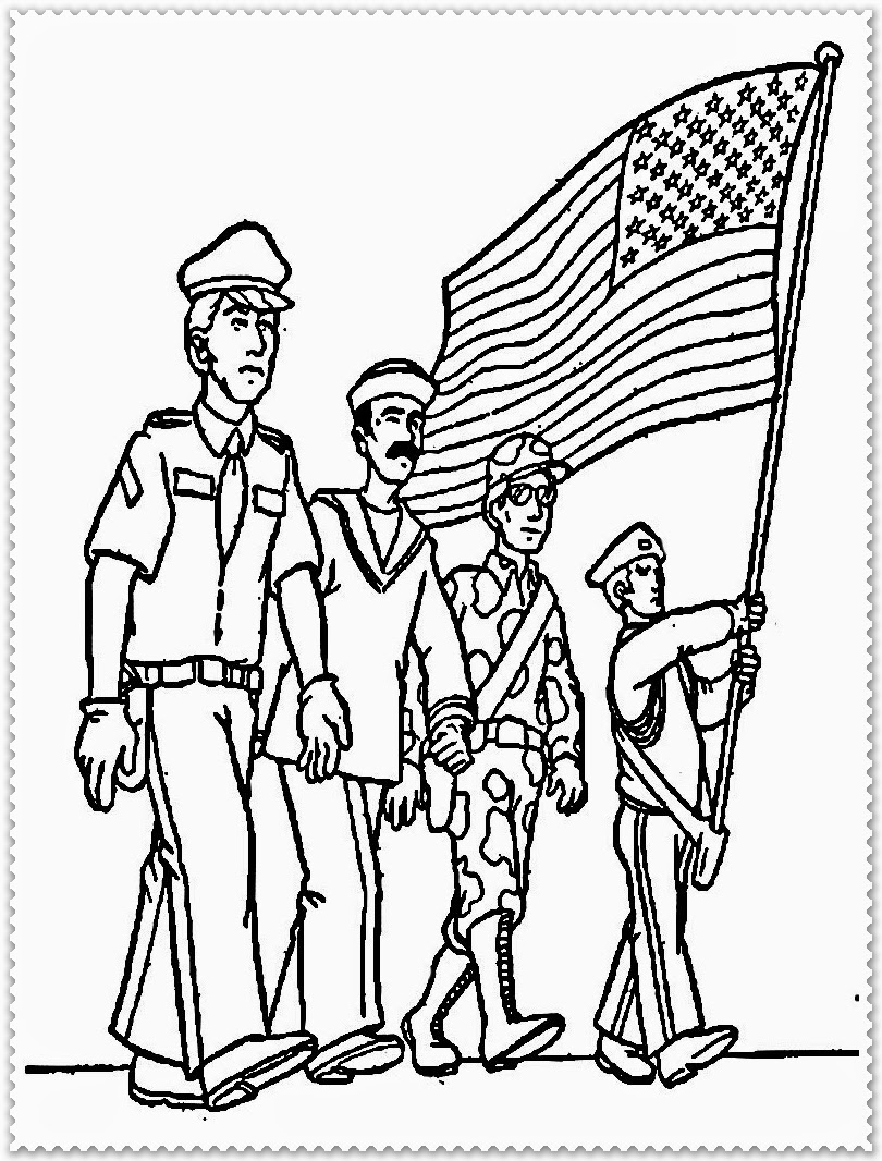 Veterans Day Coloring Pages - Veterans Day Thank You Printable Coloring Pages Sketch