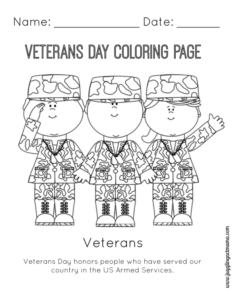 veterans day printable coloring pages - veterans day printable coloring page