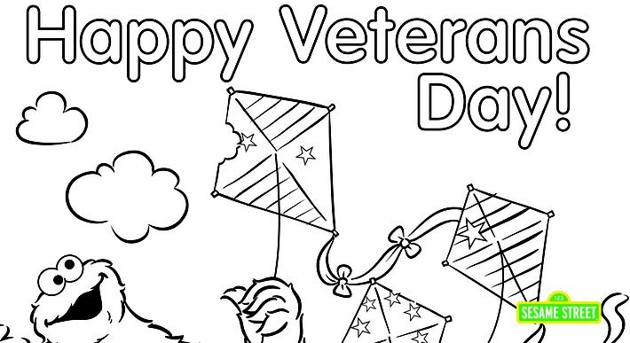 veterans day printable coloring pages - veterans day coloring page printable sesame street