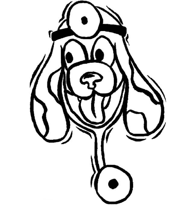 veterinary coloring pages - animal doctor coloring pages