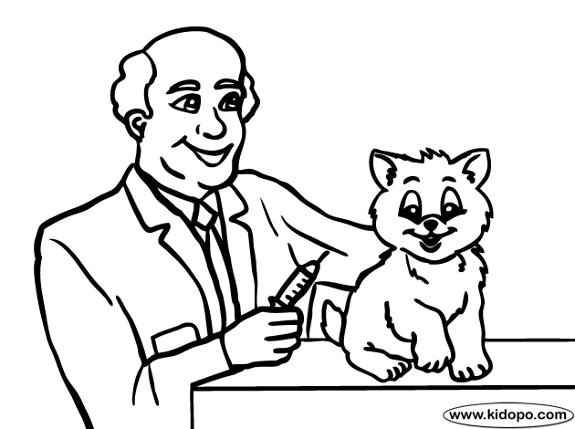 veterinary coloring pages - coloring page vet