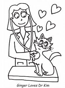 veterinary coloring pages - gingerStore