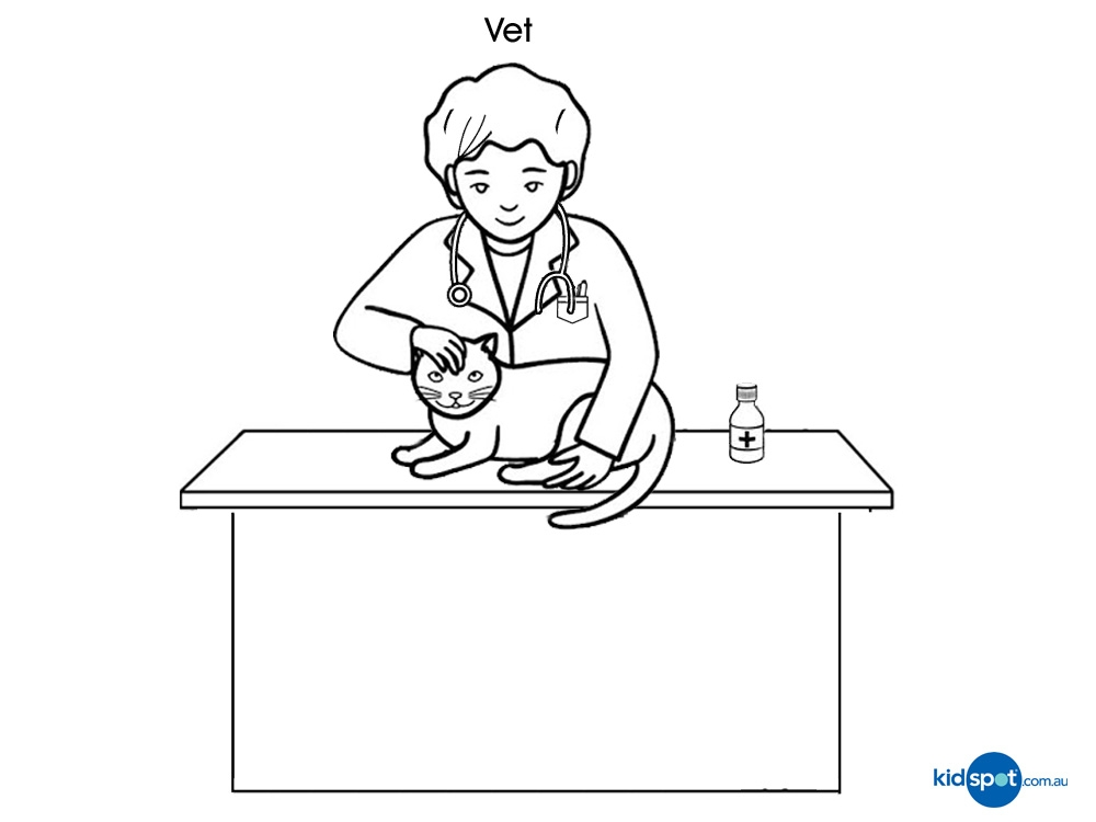 veterinary coloring pages - Occupation colouring pages Vet