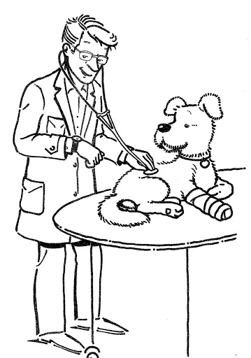veterinary coloring pages - veterinario para colorear