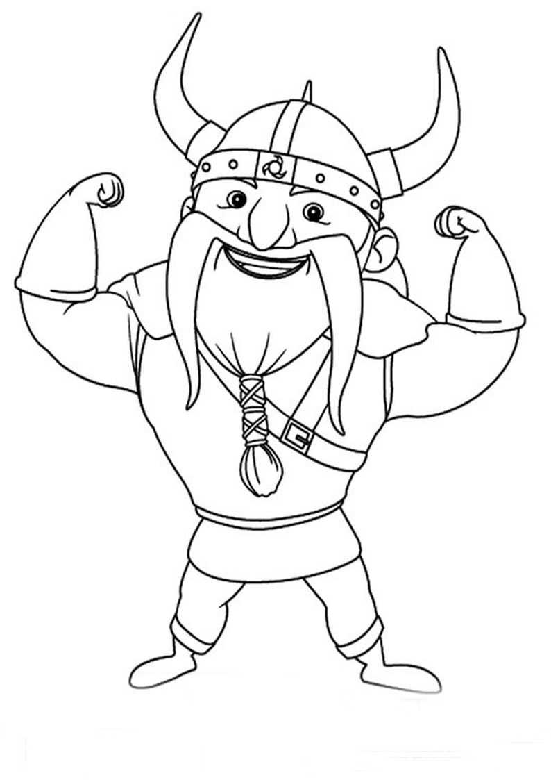 Viking Coloring Pages - Kolorowanka Wiking Z Bajki Rycerz Mike Nr 25