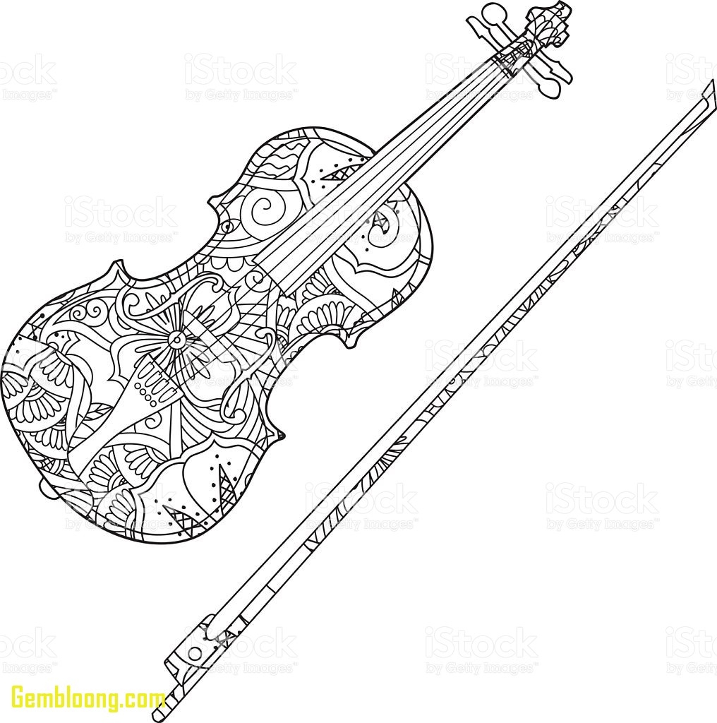 violin coloring page - musical instruments coloring pages violin
