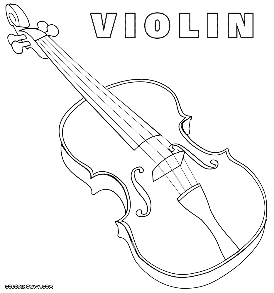 Violin Coloring Page - Violin Coloring Page Coloring Coloring Pages