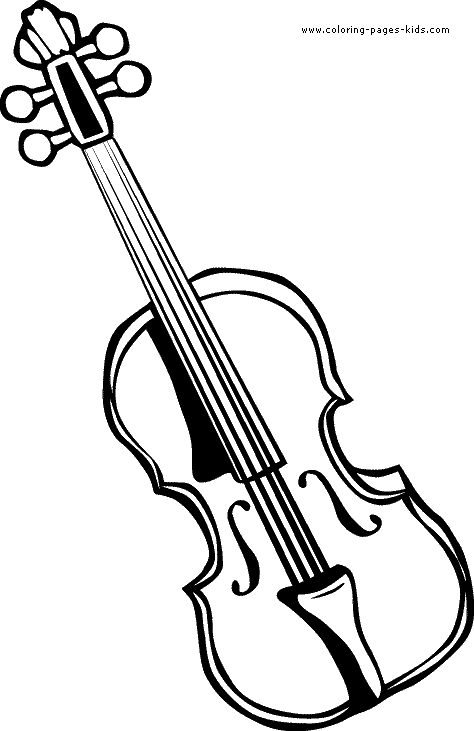 Violin Coloring Page - Violin Printable Coloring Pages