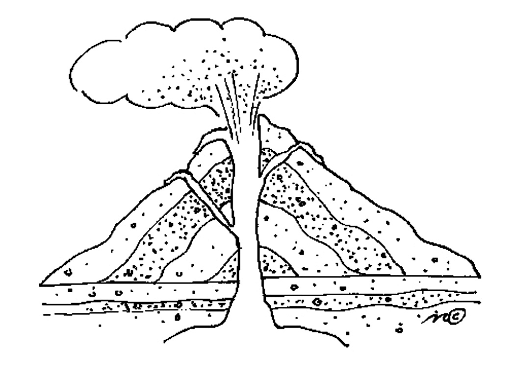 Volcano coloring pages qpompeii volcano