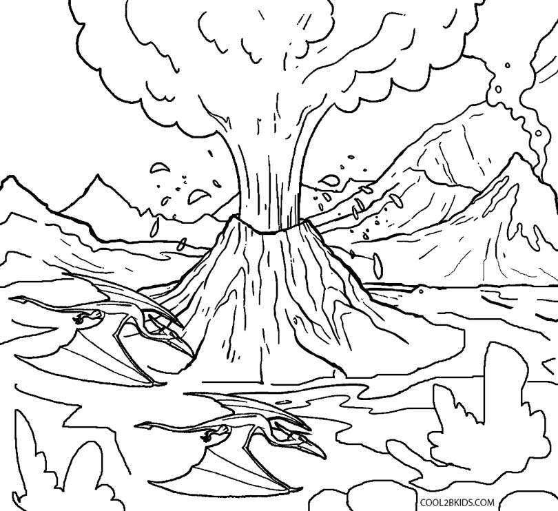28 volcano coloring pages compilation