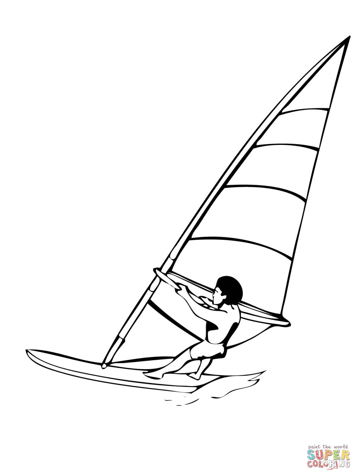 volleyball coloring pages - windsurfen