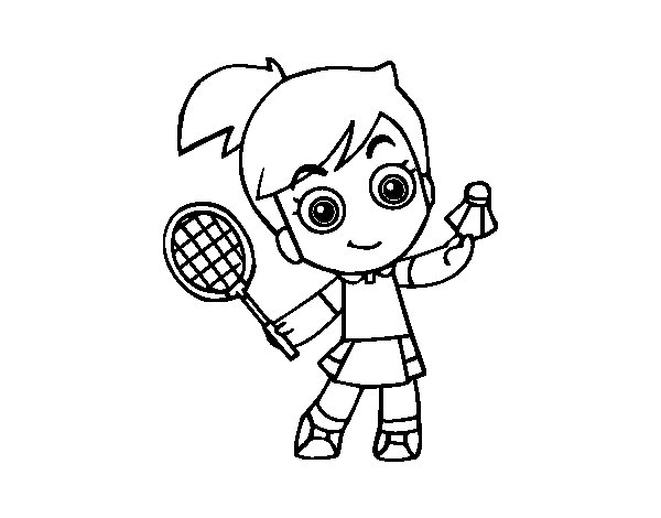 volleyball coloring pages - badminton