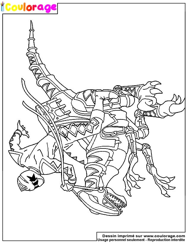voltron coloring pages - coloriage power rangers