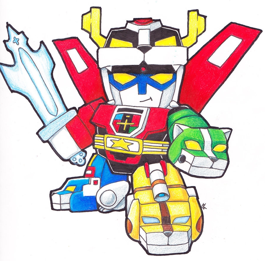 voltron coloring pages - SD Voltron