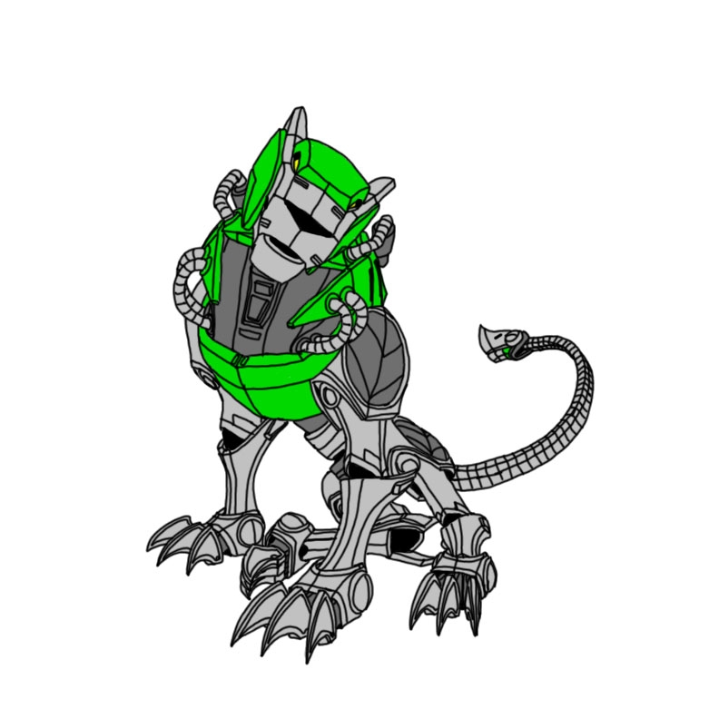 voltron coloring pages - Voltron Force Green Lion