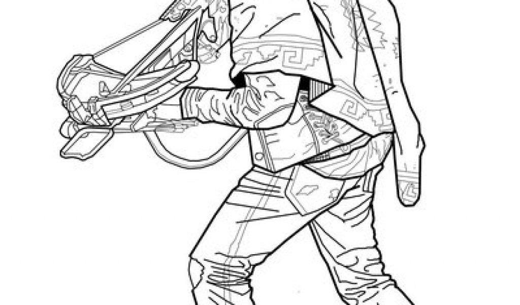 walking dead coloring pages - daryl dixon