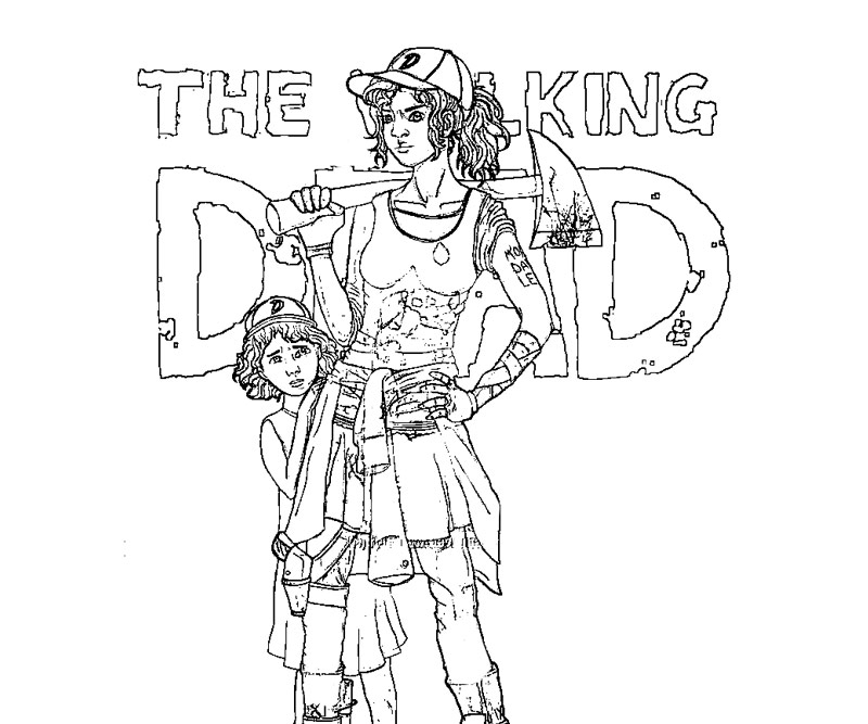 walking dead coloring pages - the walking dead coloring page printable