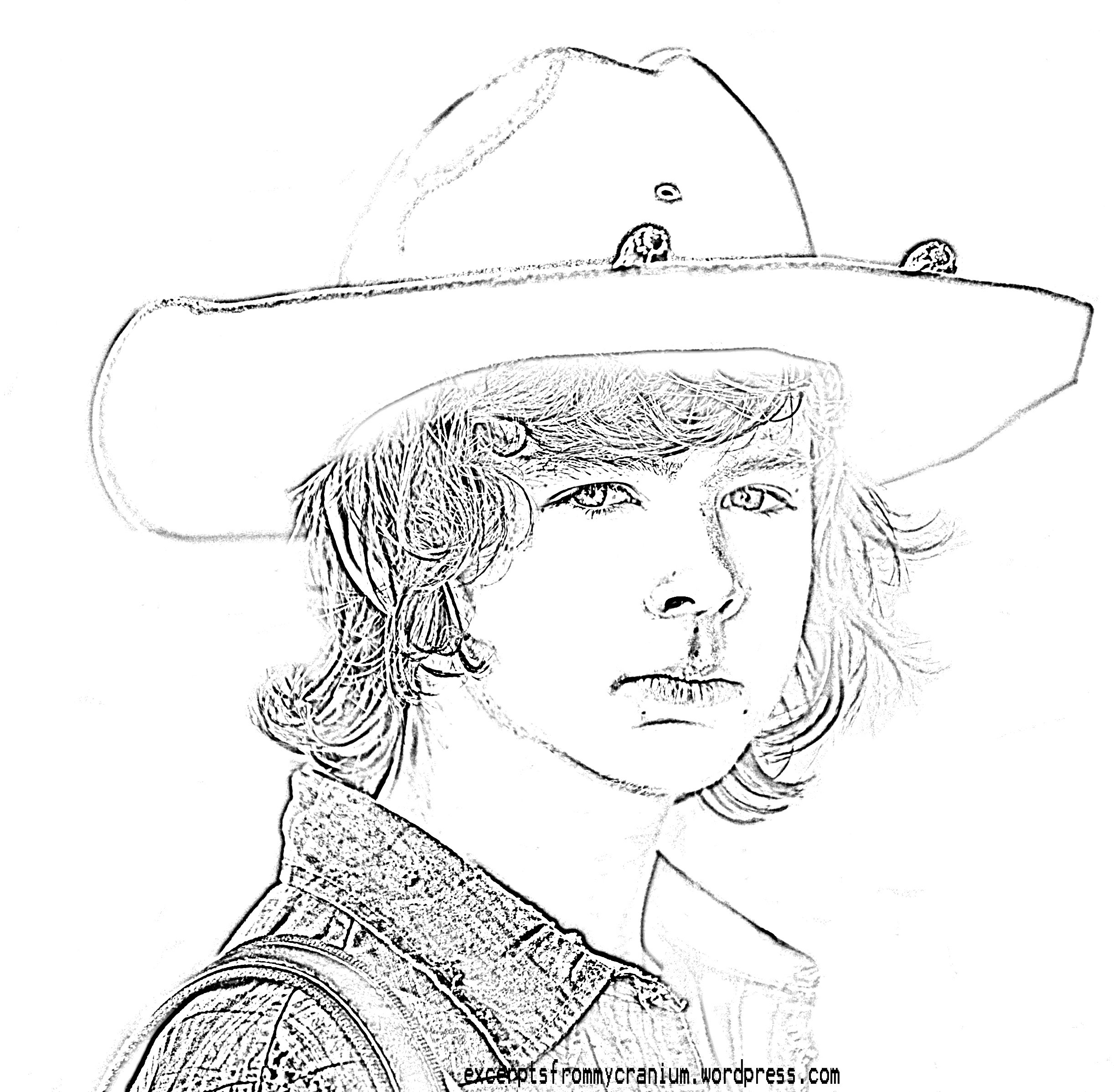 walking dead coloring pages - the walking dead logo coloring sketch templates