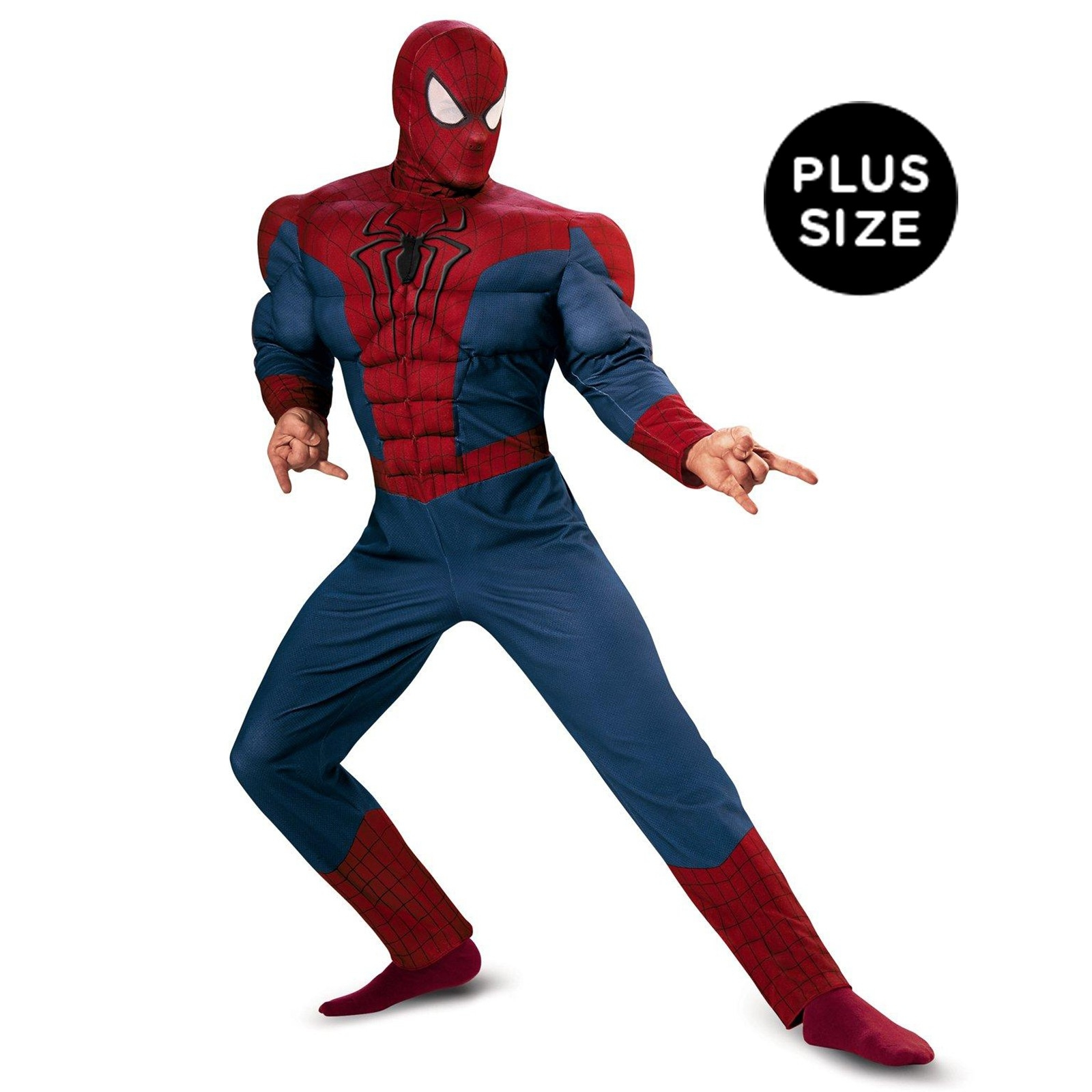 wall size coloring pages - spider man movie 2 adult muscle chest plus size costume