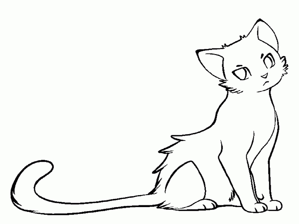 warrior cat coloring pages - cat coloring page warrior cat
