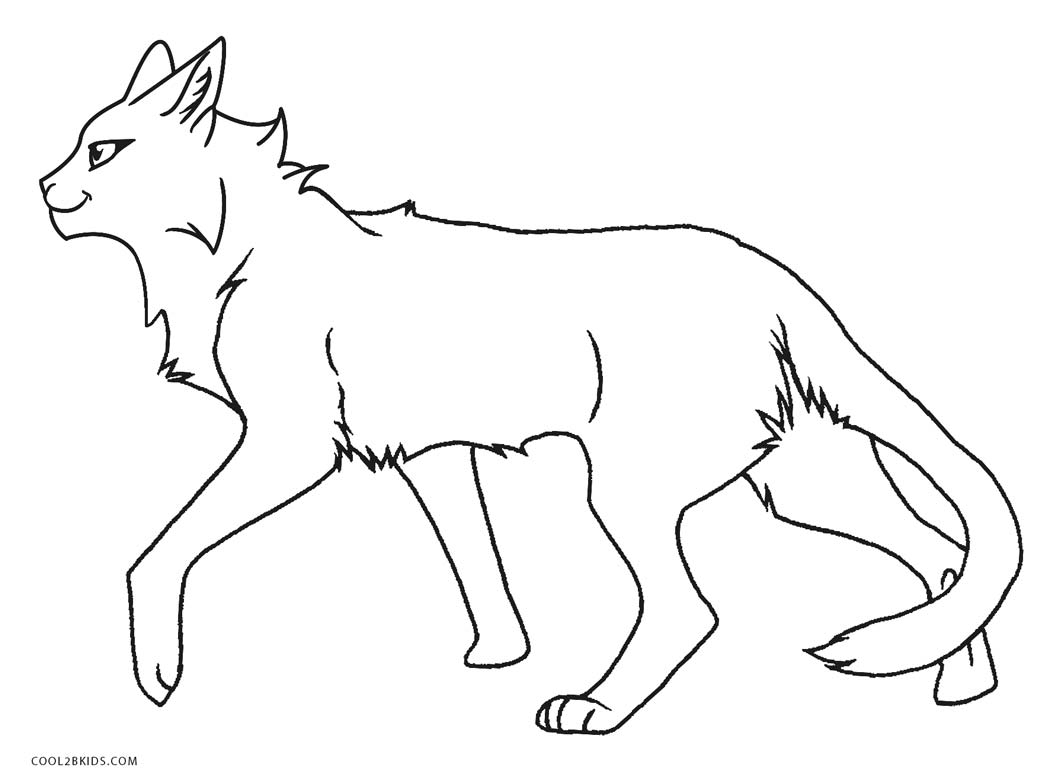 warrior cat coloring pages - fireheart warrior cats coloring sketch templates