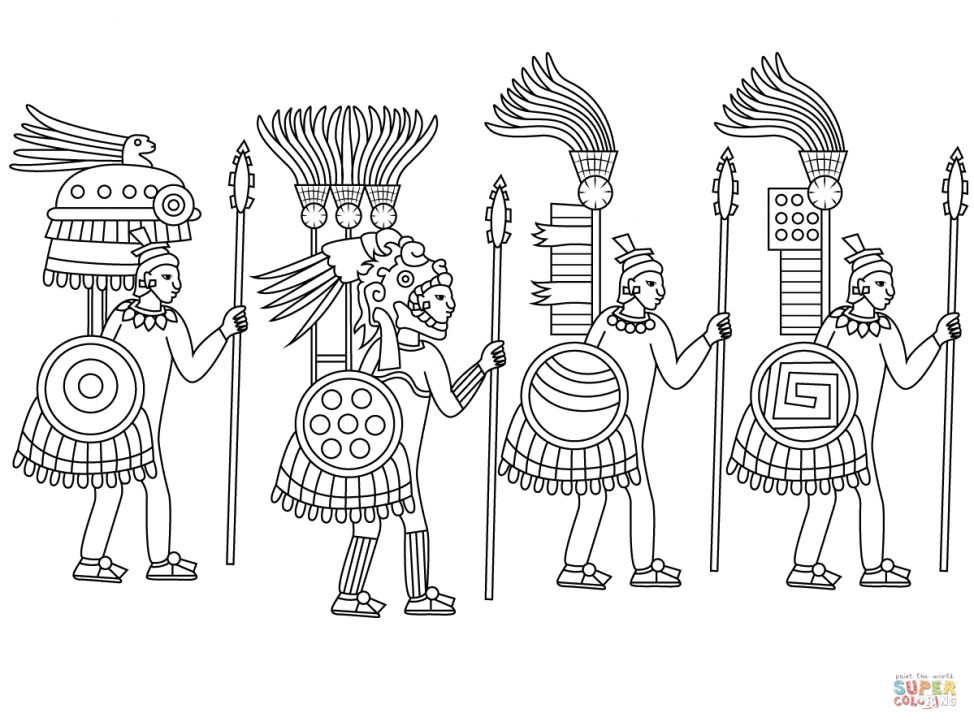 Warriors Coloring Pages - Coloring Pages Aztec Colouring Sheets Coloring Pages and