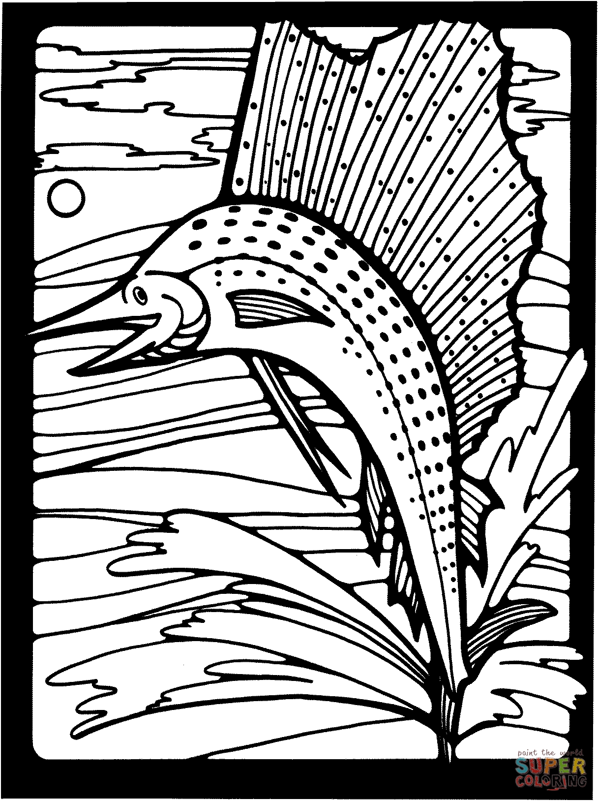 Water Coloring Pages - Marlin Jumping Out Of Water Coloring Line